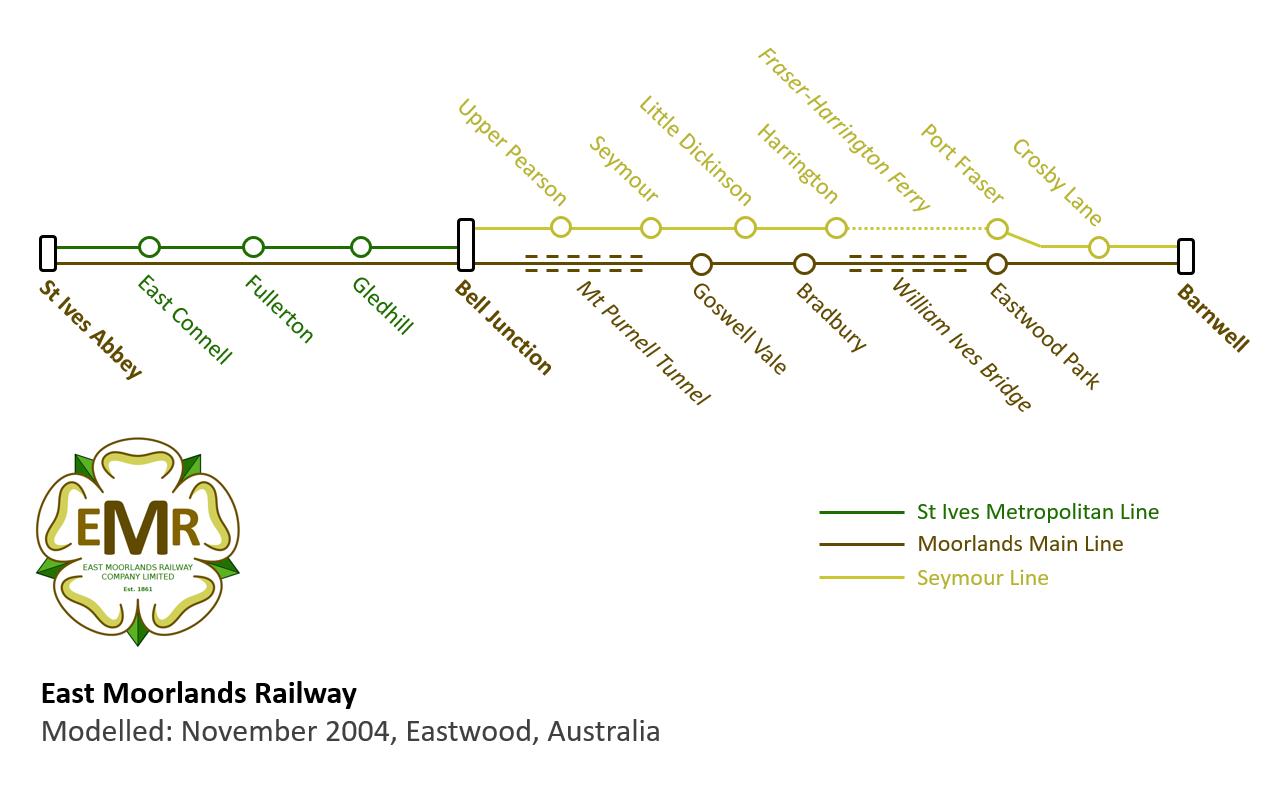 East Moorlands Railway Map